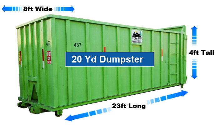 20-Yard-dumpster-rental-template-dimensions-Phoenix