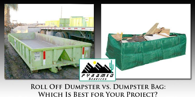 Roll Off Dumpster vs Dumpster Bag Phoenix
